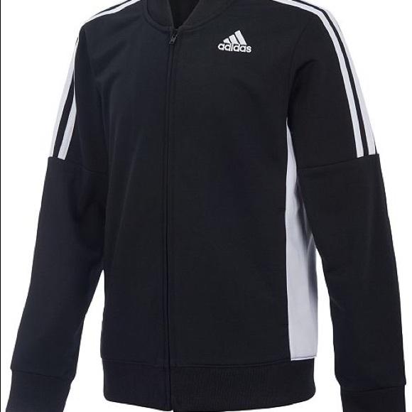 156bdf1e78652 adidas Jackets & Coats   Big Boys Athletic Linear Jacket Black ...
